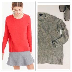 J. Crew Tunic Sweater boxy Wool grey size XXS